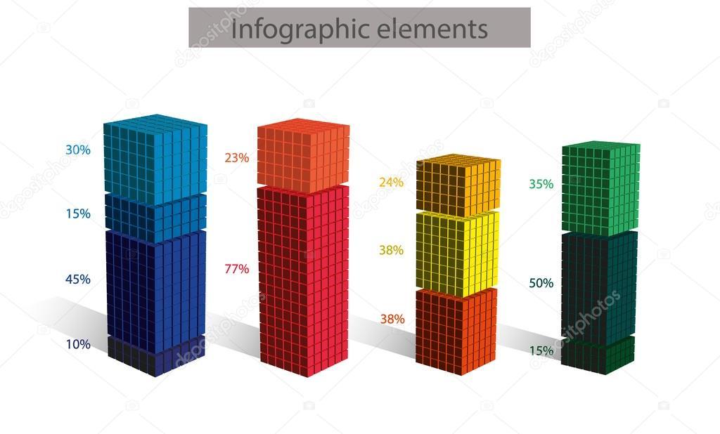 cubic diagram with numbers ストックベクター natasha pankina