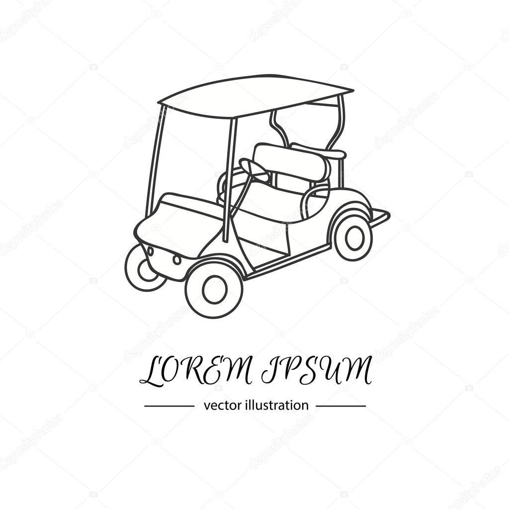hand drawn icon of golf cart stock vector natasha pankina 96665218