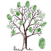 Fotografia Illustrazione vettoriale di albero con le impronte digitali