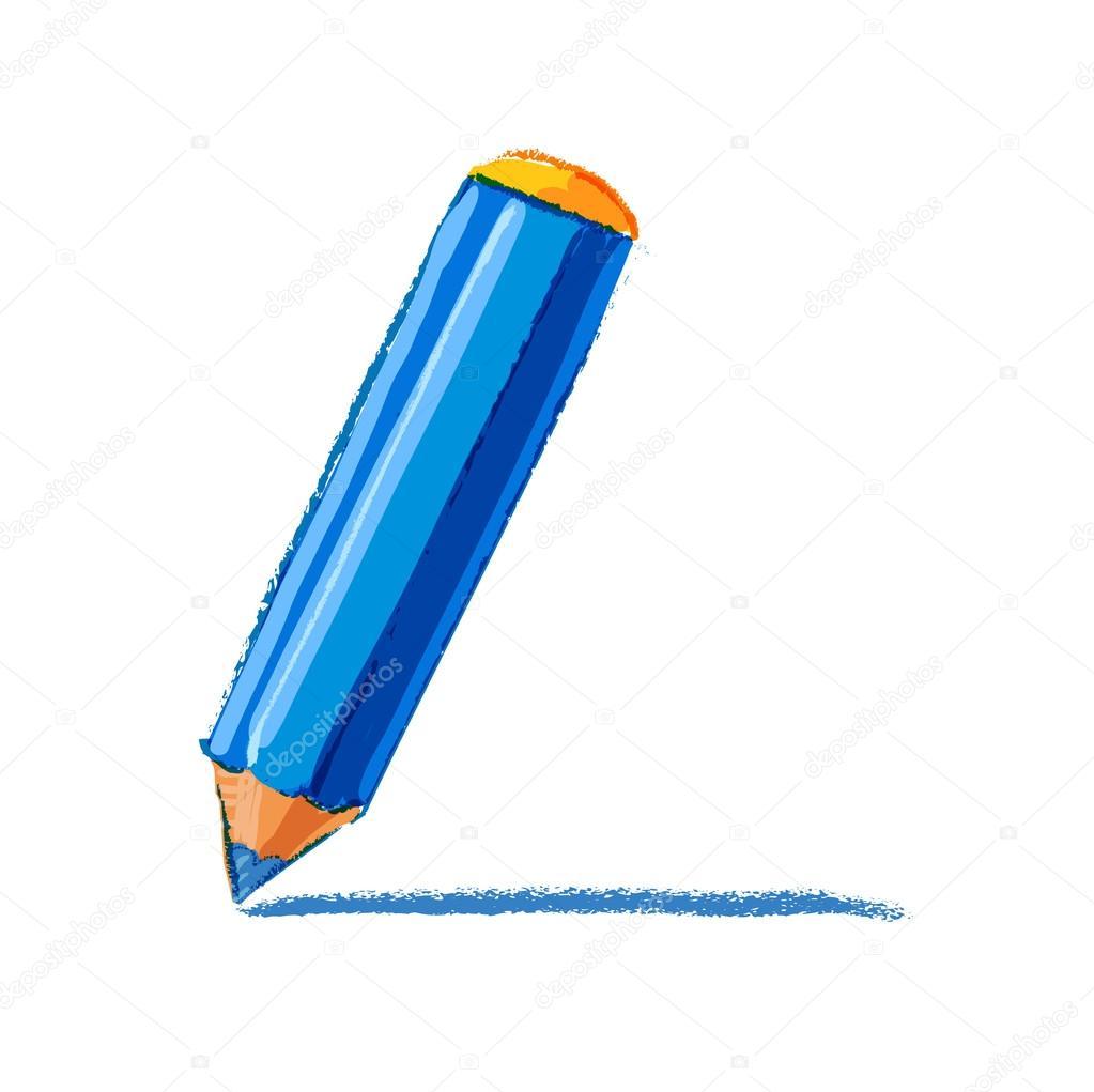 Dibujo A Lápiz Color Archivo Imágenes Vectoriales Reuki 78099336