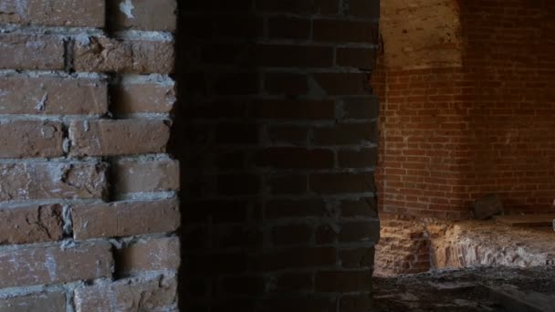 Brownstone Wall Archs Inside of a Monastery Red Brick Wall Bricks Are Fallen Apart Old-Aged Building Ancient Wall Panorama of a Wall Corners Columns Archs