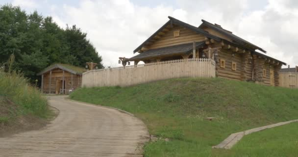 Wooden House, Log House, House on The Hill, Road Paved with Logs, Wooden Road, Bridges, Forest, Kievan Russ, 11 Century, Reconstruction