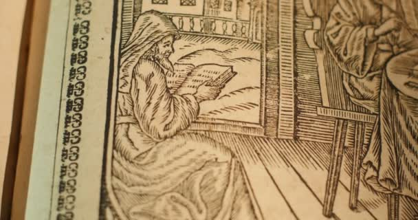 Engravings Pictures Episodes From The Life of Saints Monks Old Men, Old Book Ancient Book Paterik of Kiev-Pecherska Lavra 18 Century Year 1762