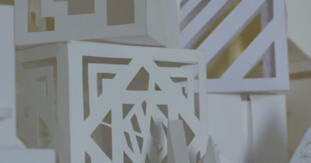 White Volumetric Architectural Layouts Products Paper Forms Cubes Pyramid Sphere Tracking Right Kiev Ukraine