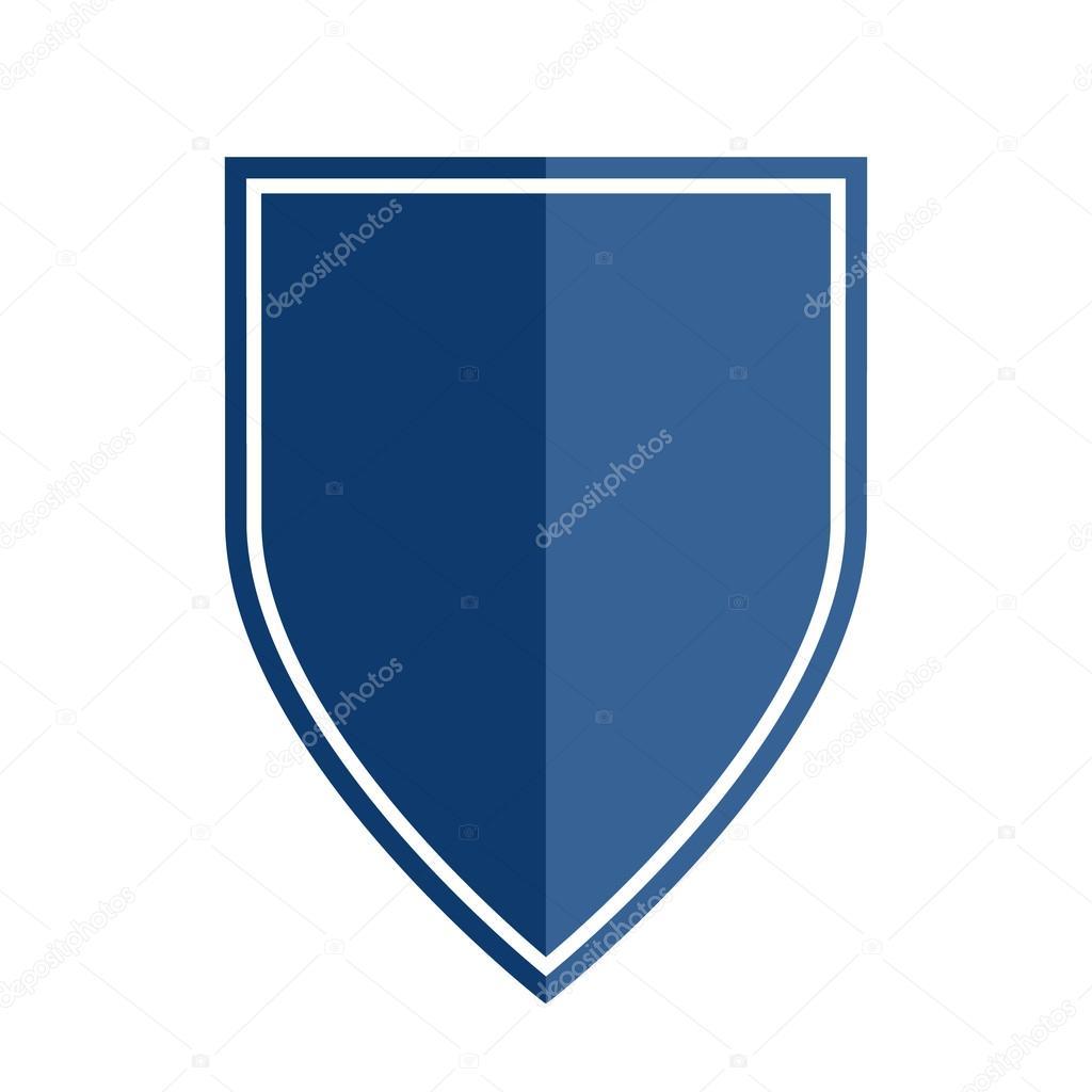 Heraldic Shield Shape Emblem Stock Vector