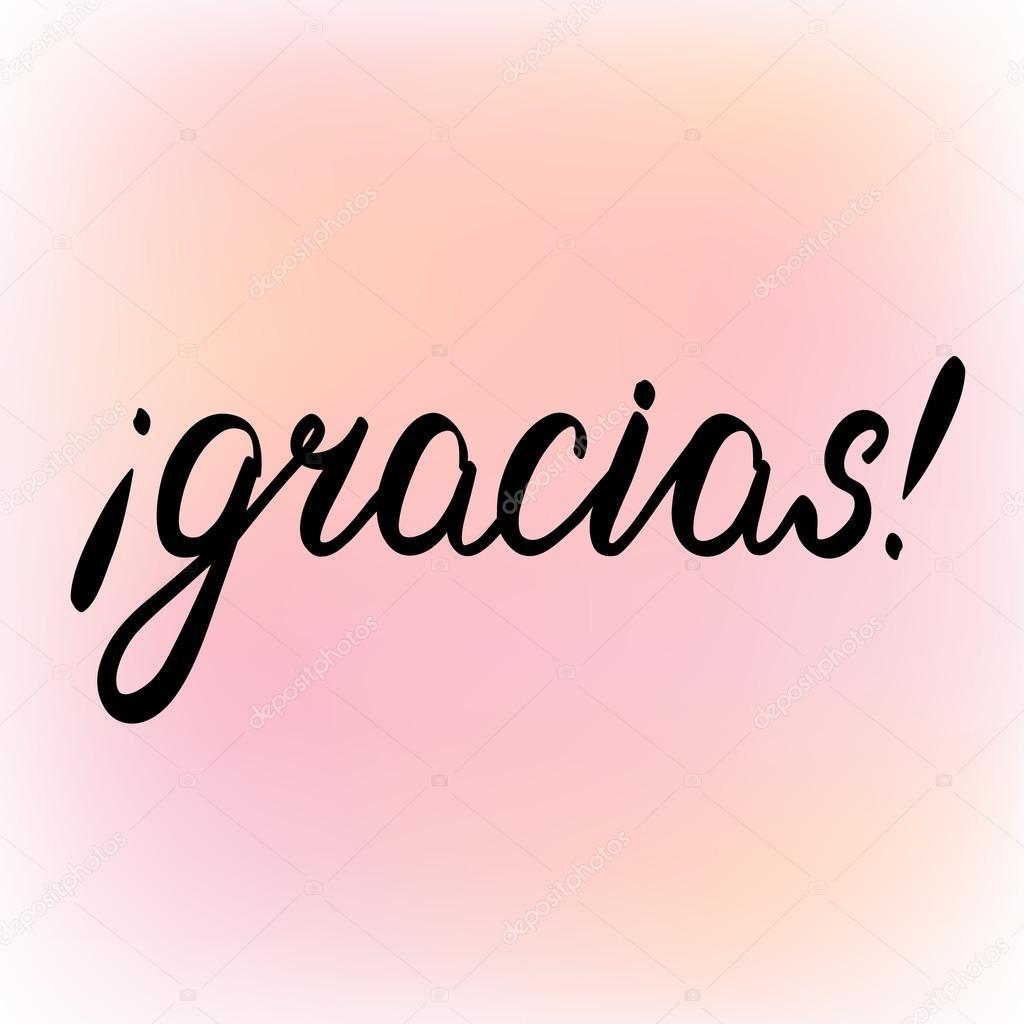 gracias danke auf spanisch pinsel schriftzug stockvektor siberica 102041542 On danke auf spanisch