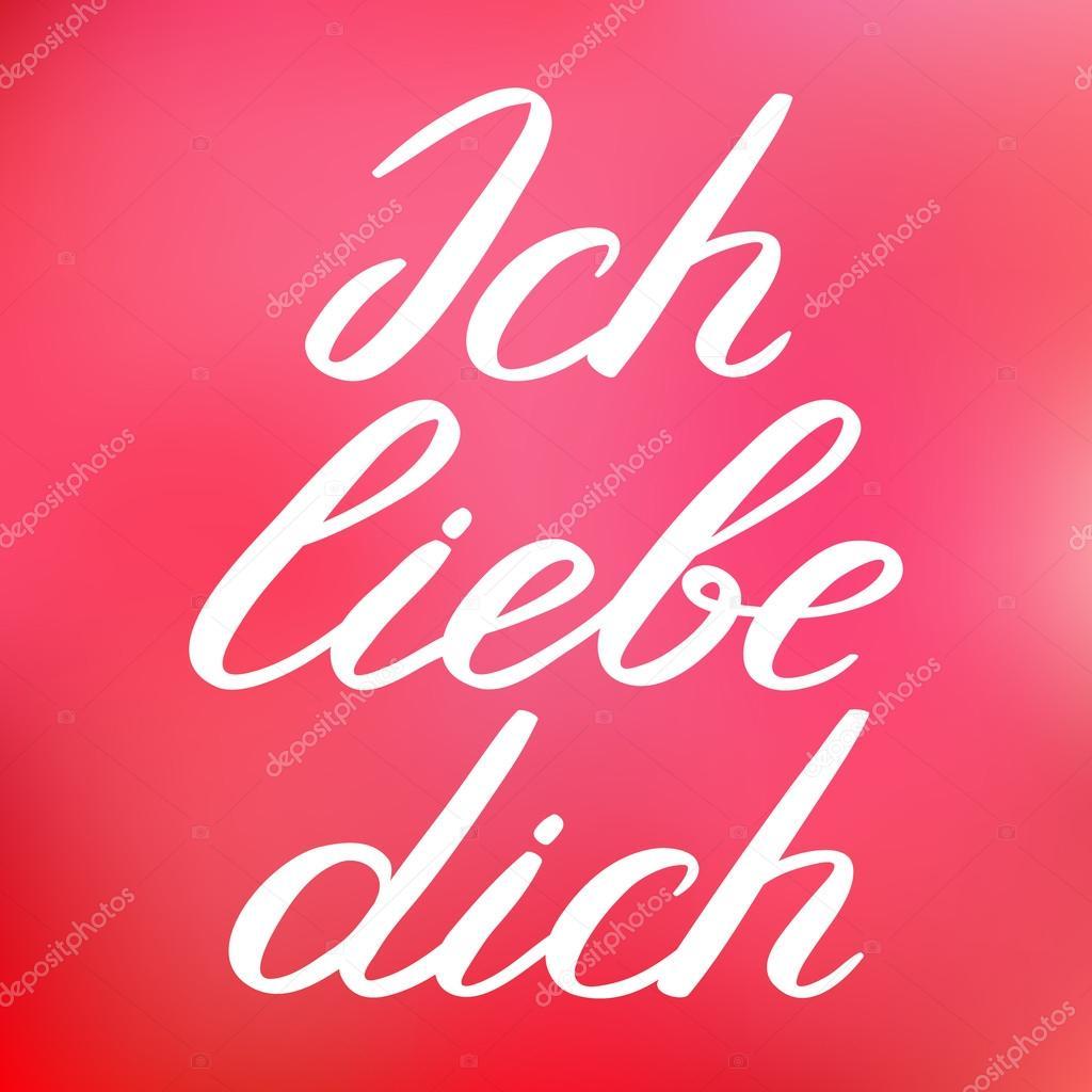 элементы открытки на немецком для любимого знаю