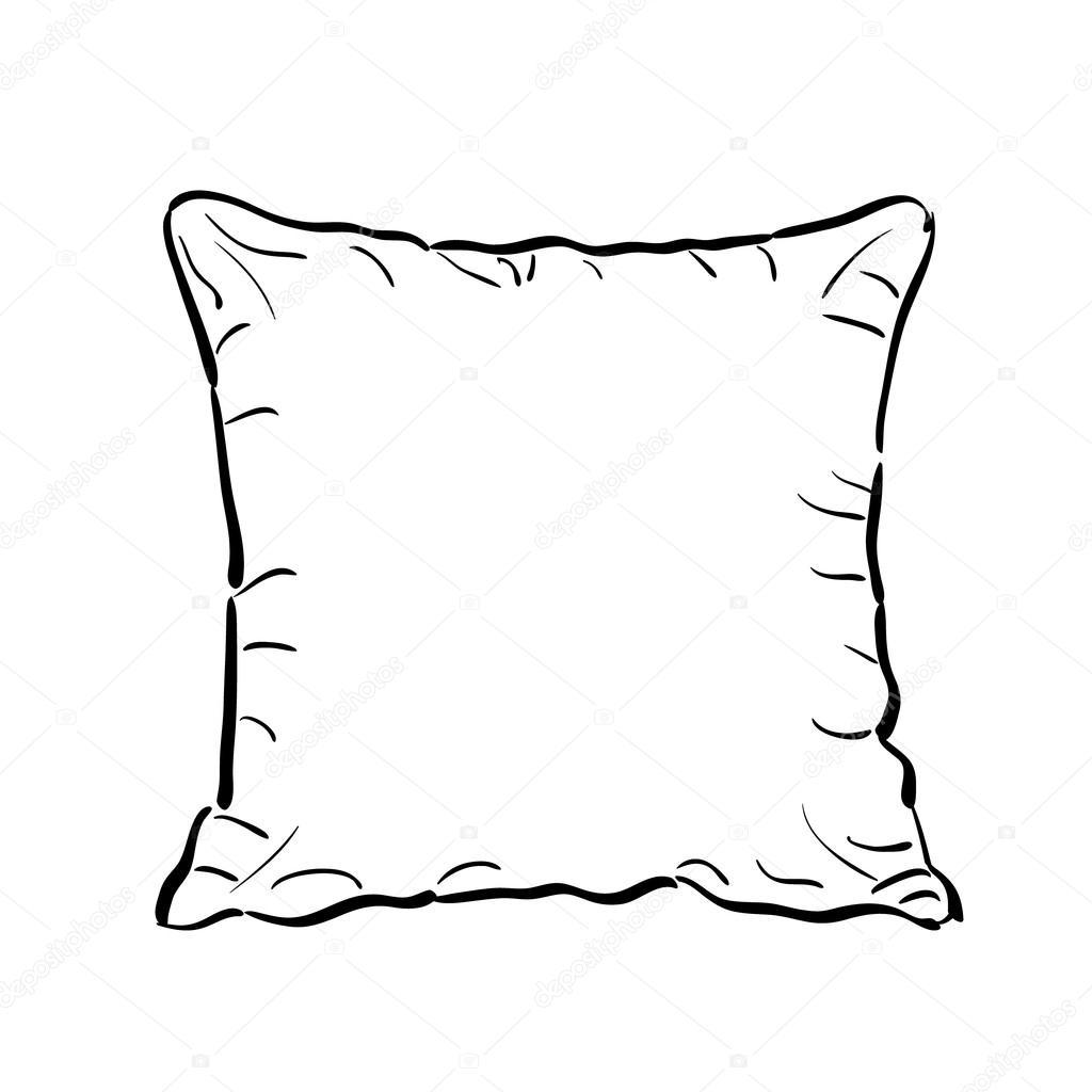 Подушки картинки для разукрашивания