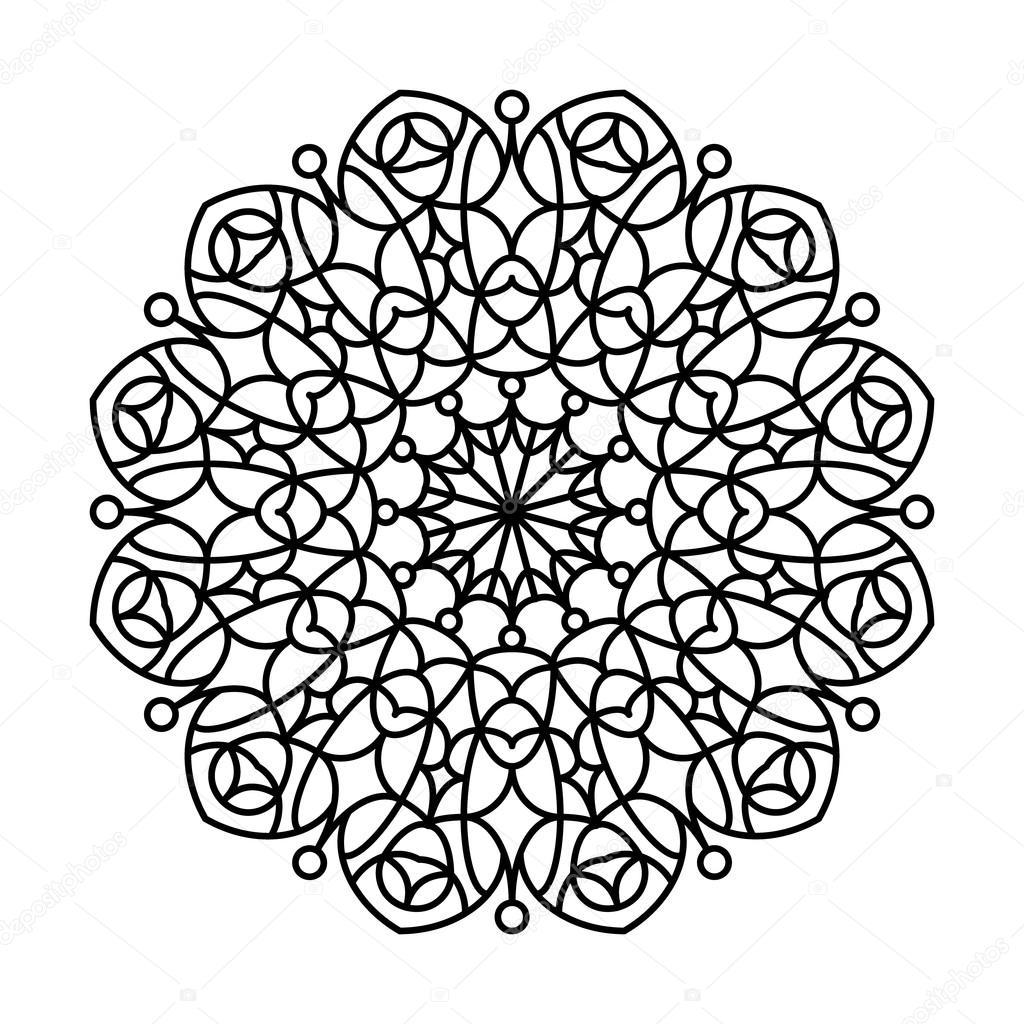 Coloring Book Mandala. — Stock Vector © Siberica #111923688