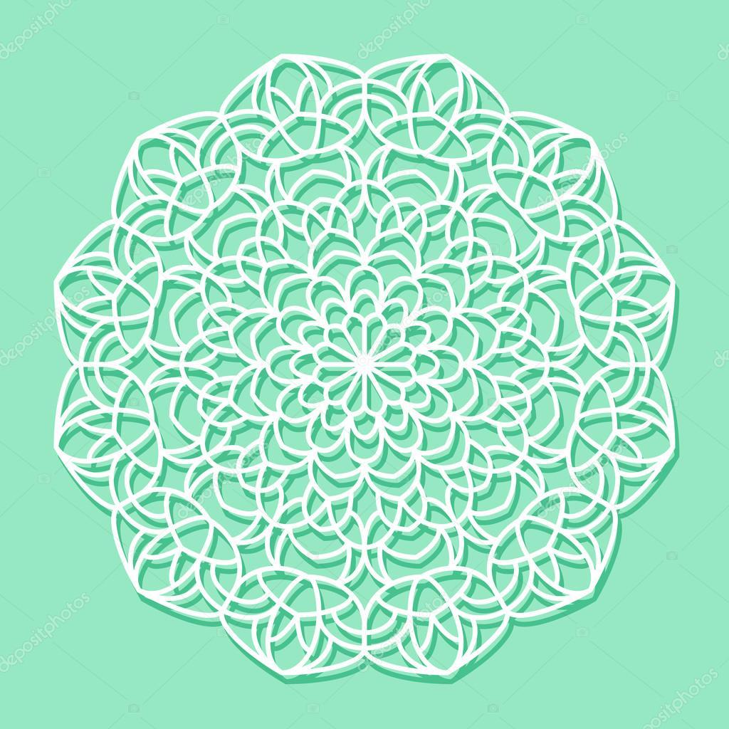 Mandala white lace ornament