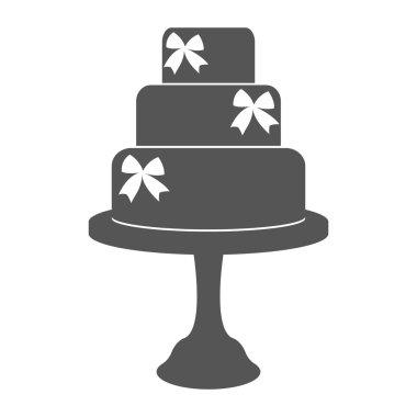 Vintage wedding cake label.