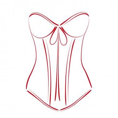 Sketched corset.