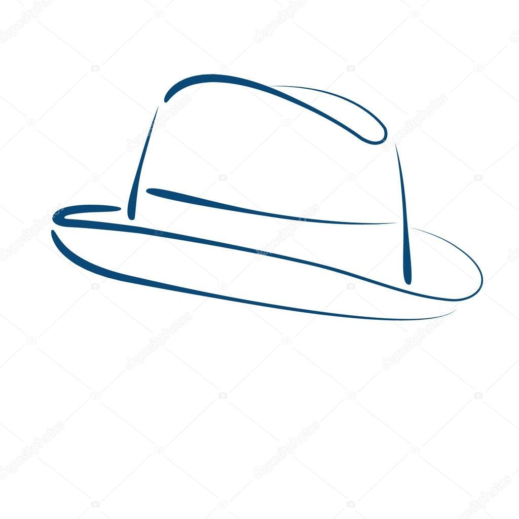 fedora trilby hat stock vector siberica 84152780