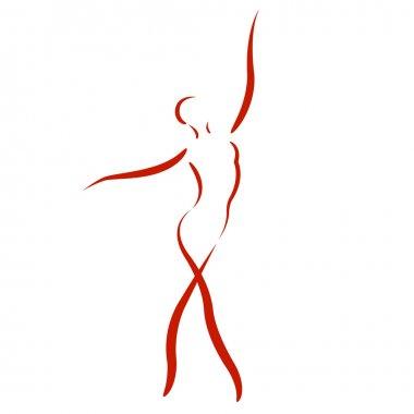 Sketched dancing woman.