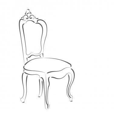 Elegant sketched chair.