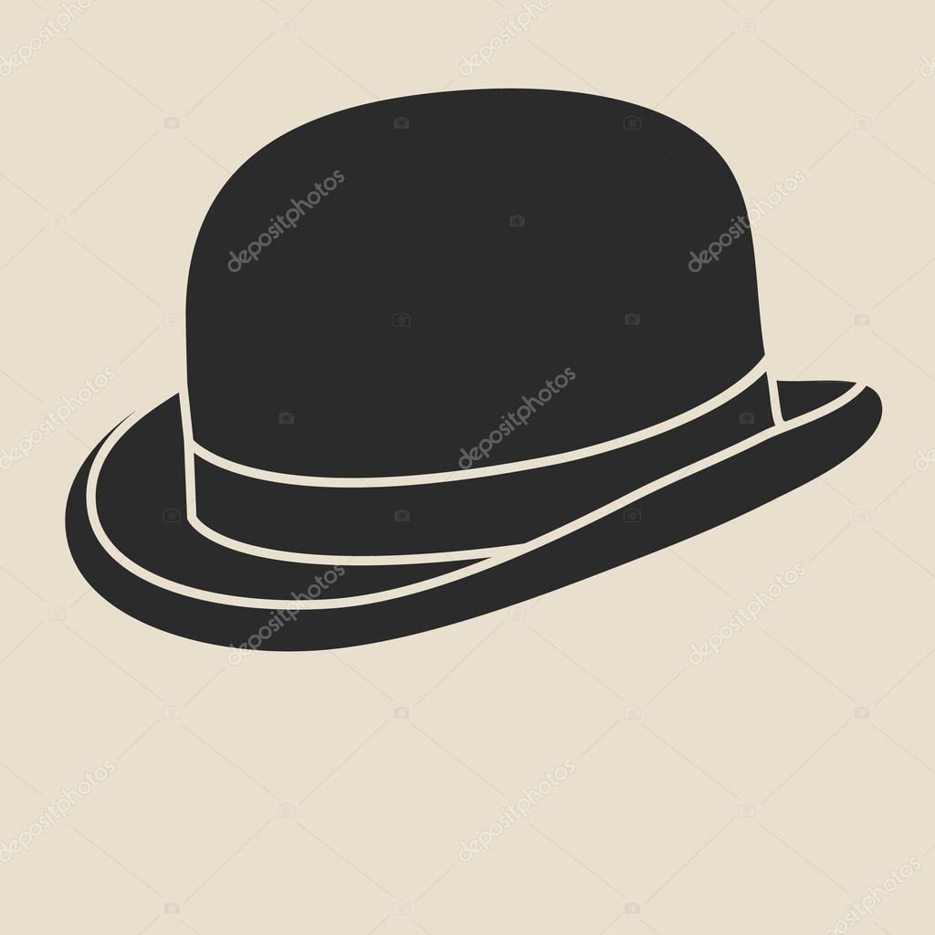 45f04e187fc72 Bowler hat illustration. — Stock Vector © Siberica  91364040
