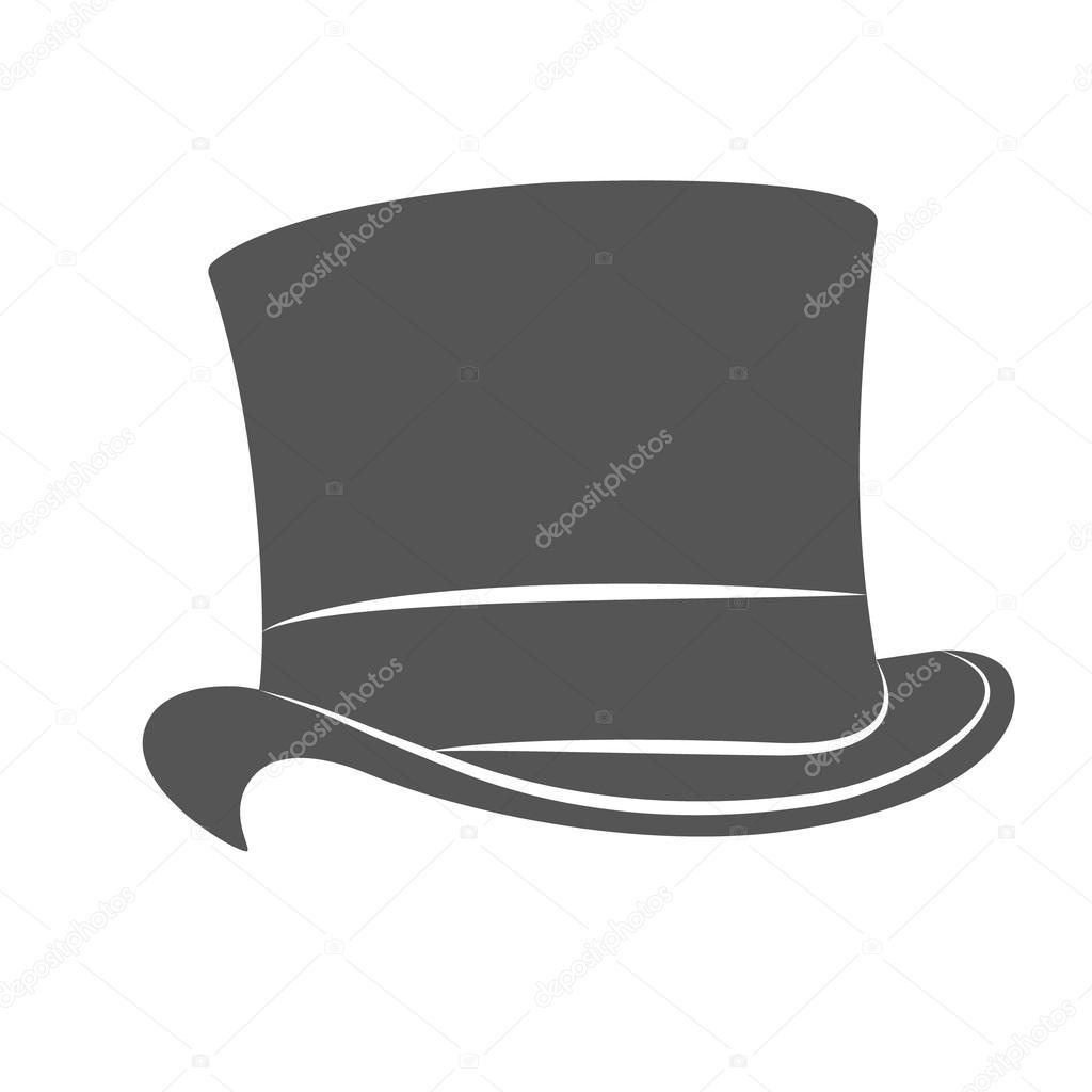 7c6885cb5dcbf Vintage man s top hat label. Top hat raster illustration. — Photo by  Siberica
