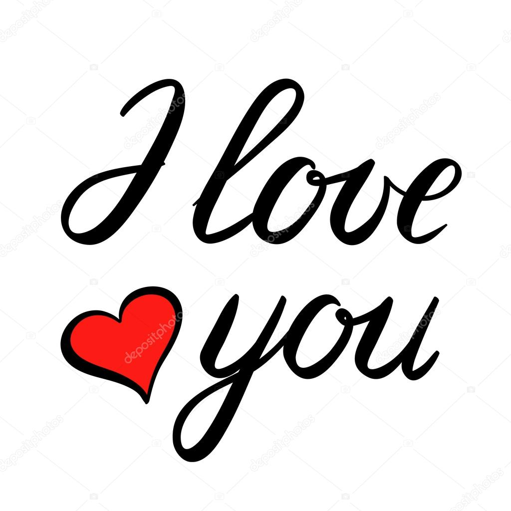 Lettering of i love you