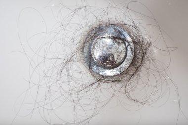 "Картина, постер, плакат, фотообои ""проблема выпадения волос в раковине "", артикул 80408708"