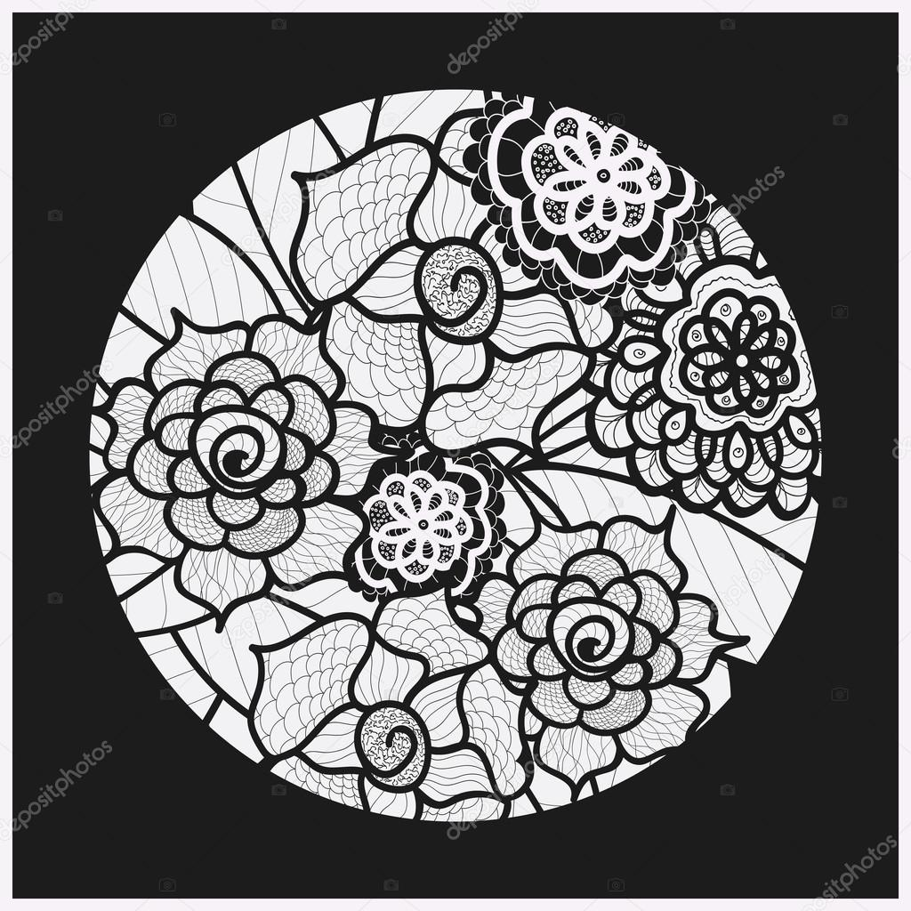 Circle Background Ornamental Decorative Drawing Vector Artwork