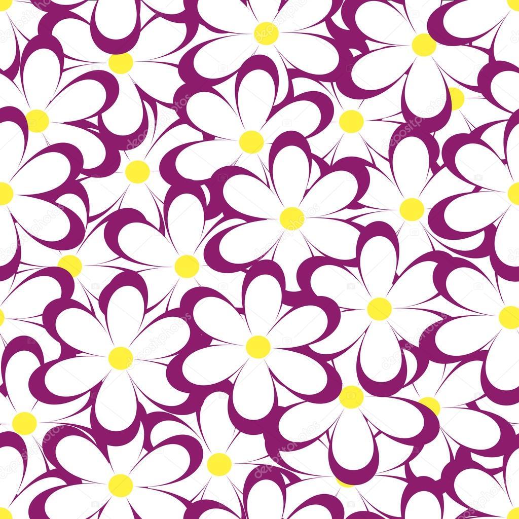 Vintage Floral Print Seamless Pattern Vector Illustration With Flowers Vintage Floral