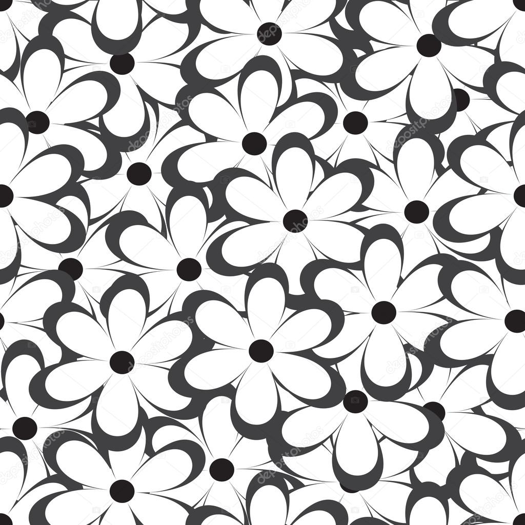 seamless pattern vector illustration with flowers vintage floral