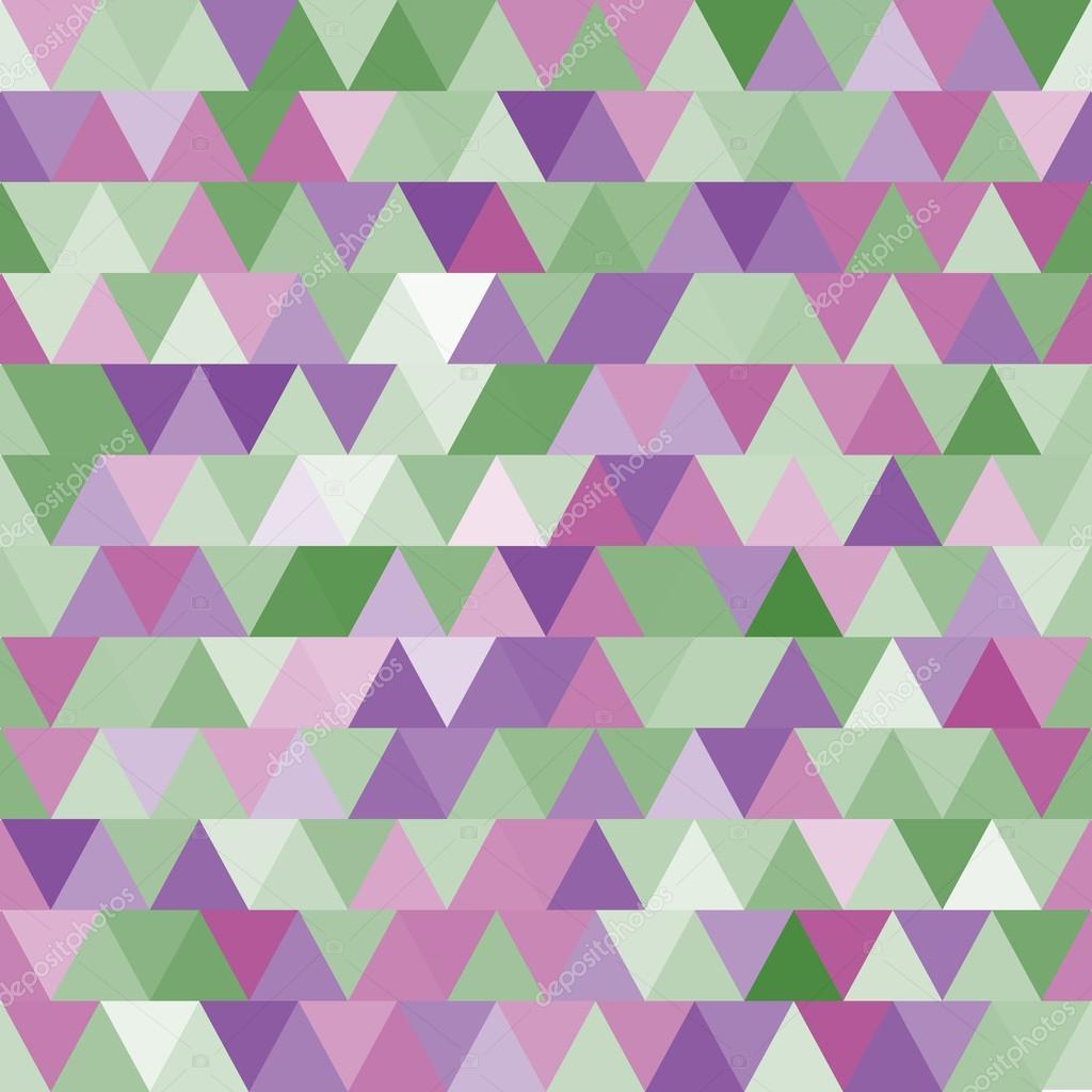 Molle Viola E Verde Reticolo Senza Giunte Con I Triangoli Sfondo
