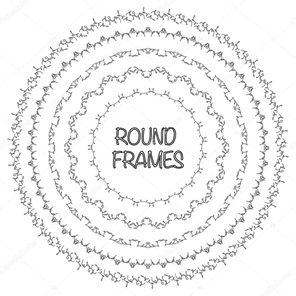 Plantillas de elegante marco. Diseño de las fronteras. Conjunto de ...