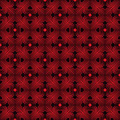 Fotografia Seamless geometric pattern with stylized hearts. Repeating vintage texture. Abstract red and black background. Dark retro backdrop. Celtic element. Four-leaf clover shaped knots. Vector illustration.