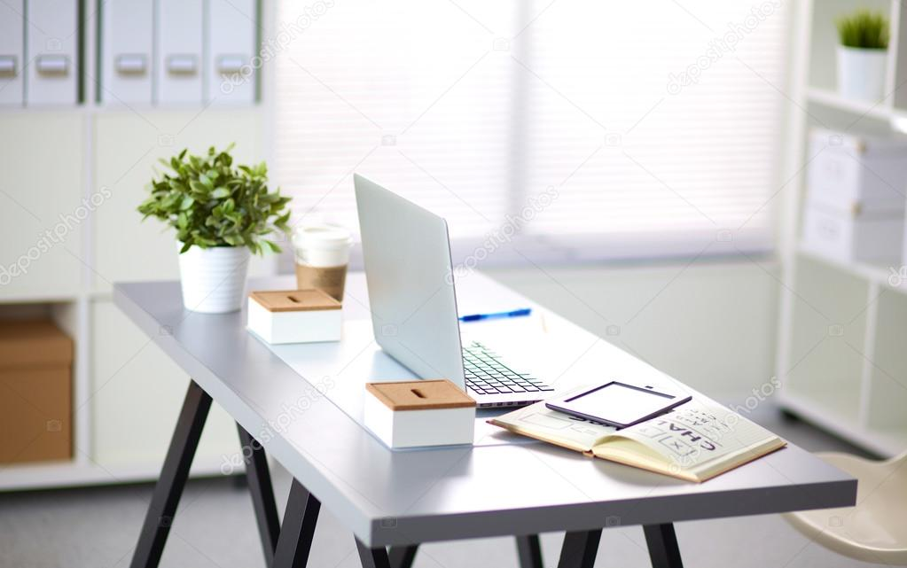 Designer Arbeitsplatz Zu Hause Mit Computer U2014 Foto Von Lenecnikolai