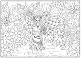 Fényképek Tündér-tó line art design felnőtt kifestőkönyv