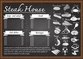 Fényképek Steak house menü a Palatábla tervezősablon