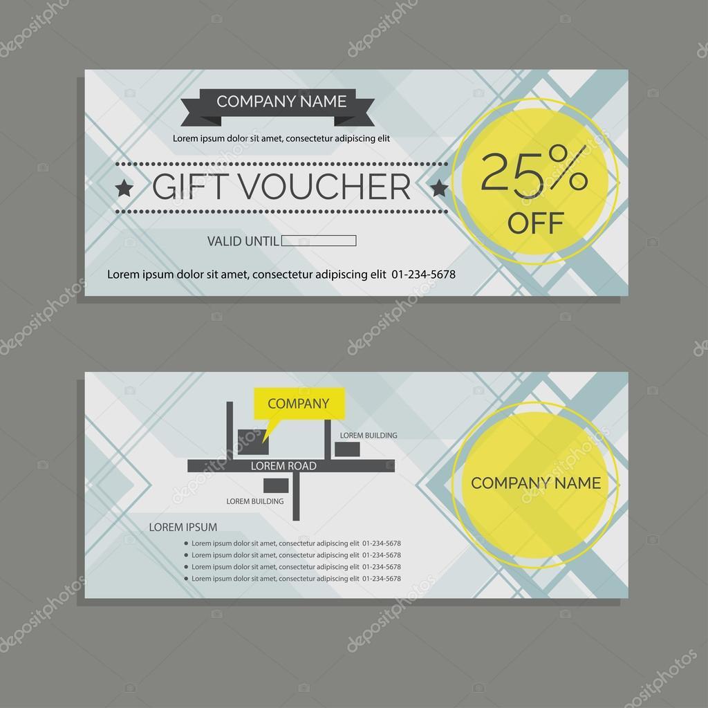Modern discount voucher design template Vector – Voucher Design
