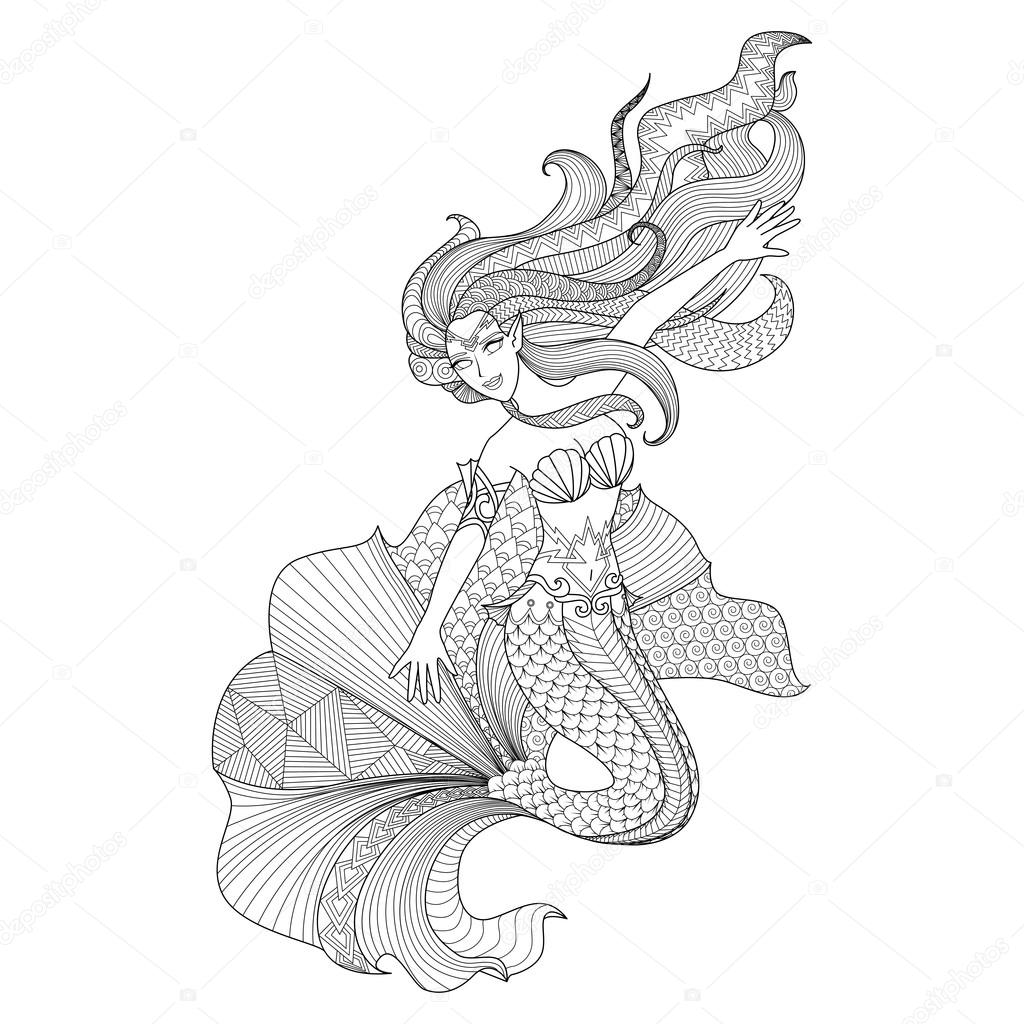 18,18 Ocean coloring page Vector Images   Free & Royalty free ...