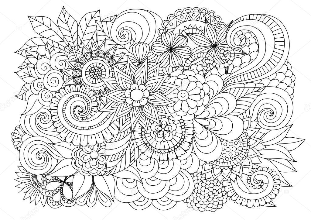 Volwassen Kleurplaten En Mandala 39 Background Zentangle Designs Hand Drawn Zentangle