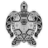 Photo Drawing zentangle turtle