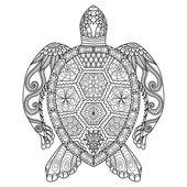 Photo Drawing zentangle turtle