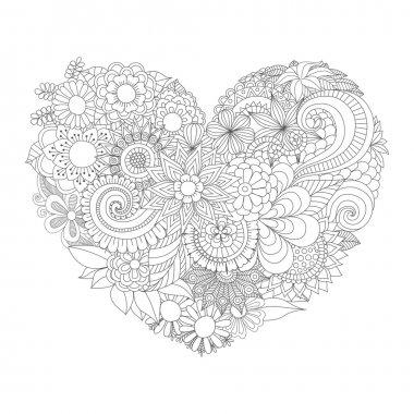 Flowers in the heart shape