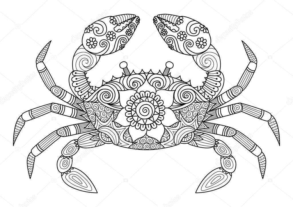 Vectores de stock de Tatuaje de cangrejo, ilustraciones de Tatuaje ...