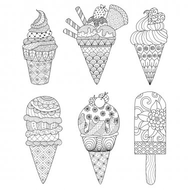 Ice cream zentangle