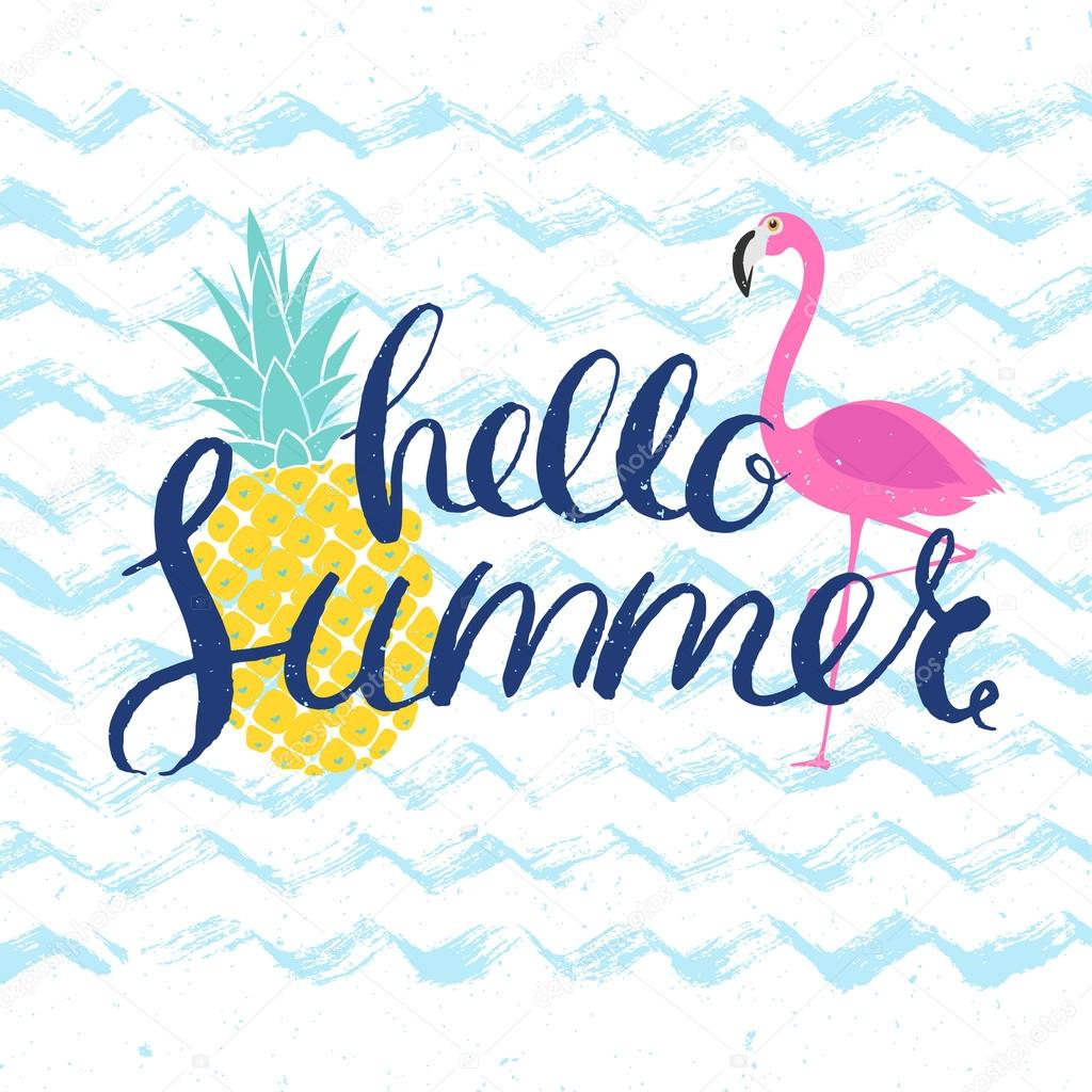 Image result for have a great summer flamingos