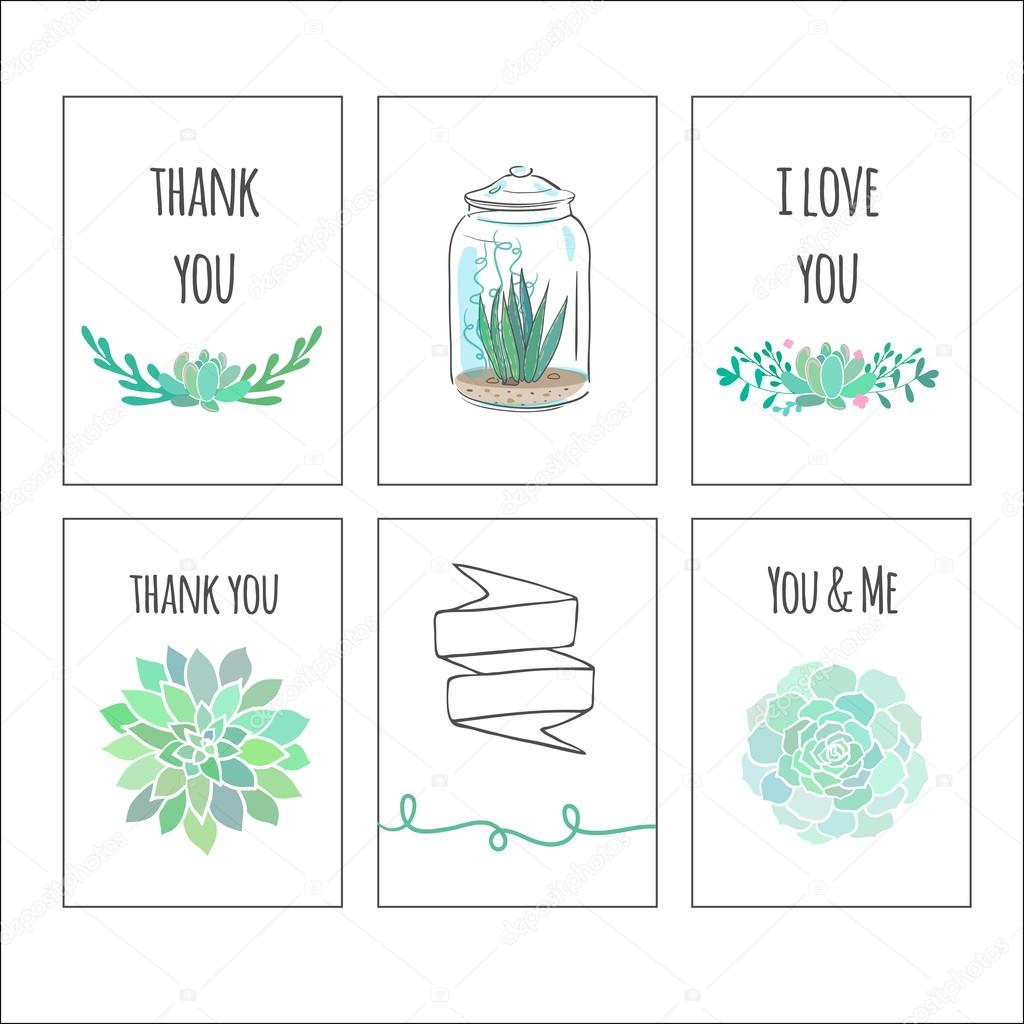 cute gift tags with succulents