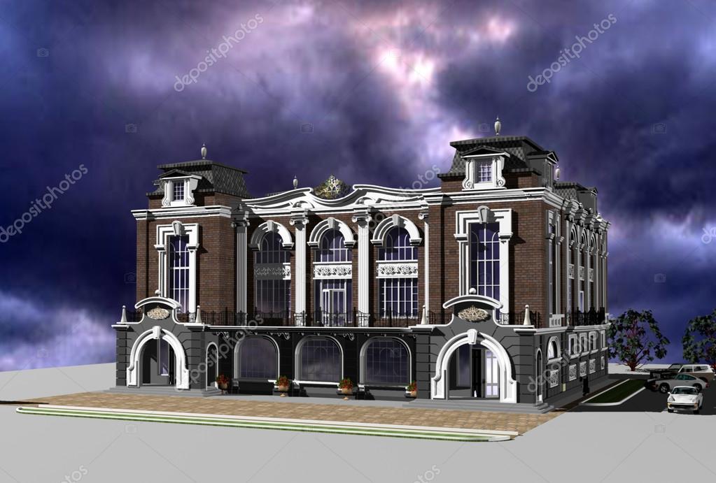 Barok En Modern : Modern bir genel neo barok tarzında inşa d modeli u stok foto
