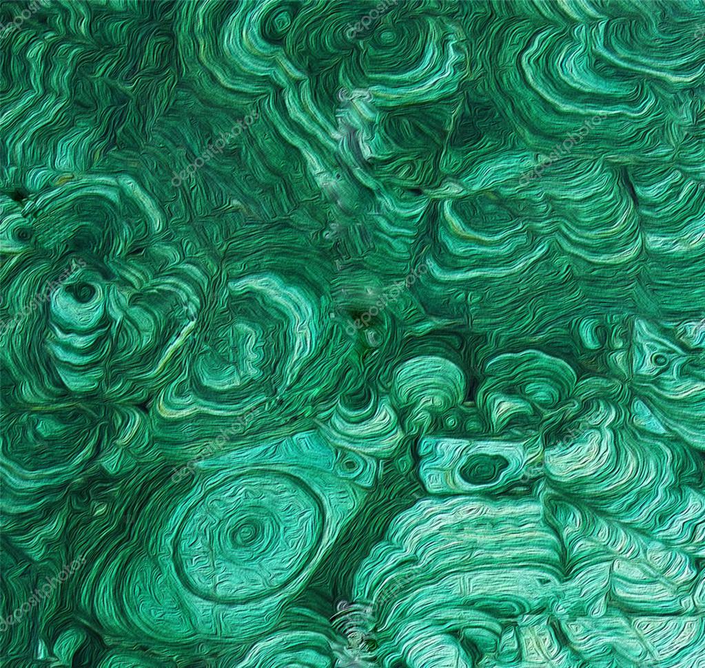 Texture of a green malachite.