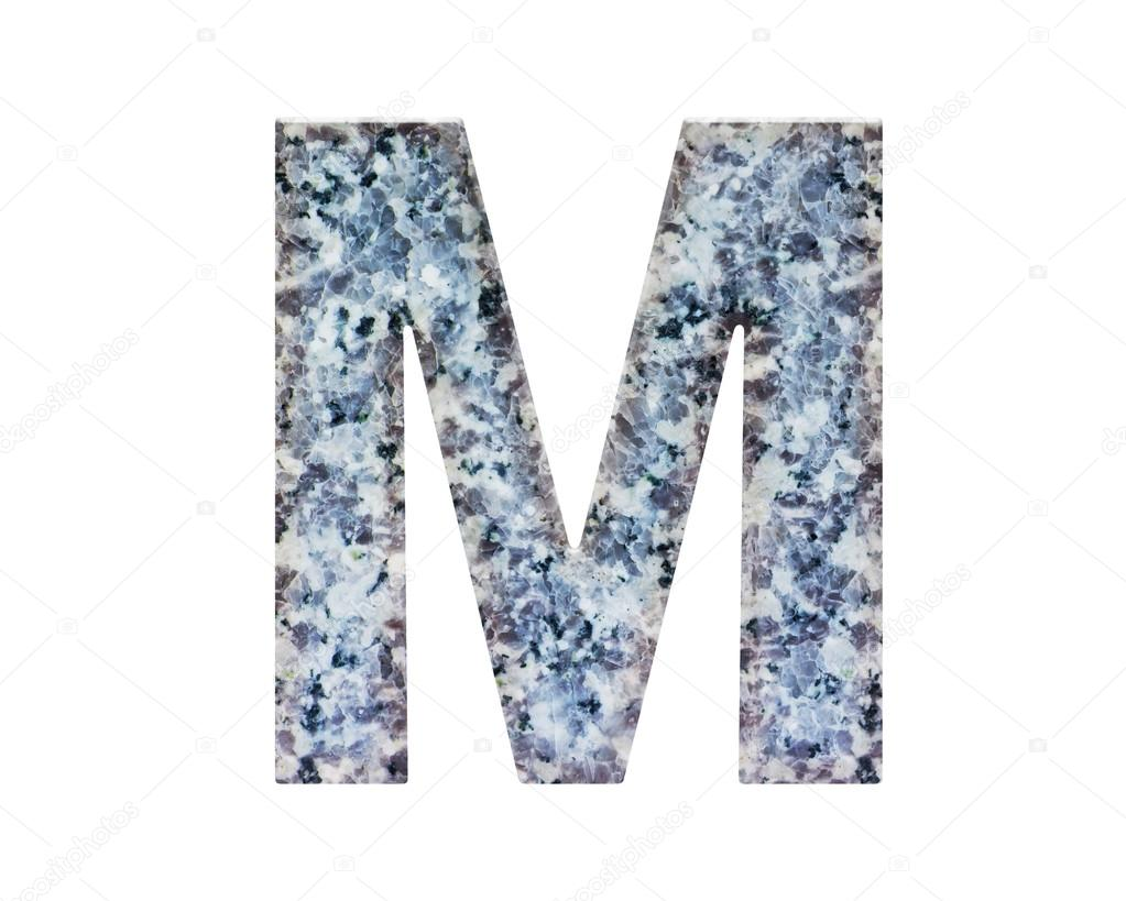 Classic And Beautiful Font Or Letter Natural Marble Texture Style