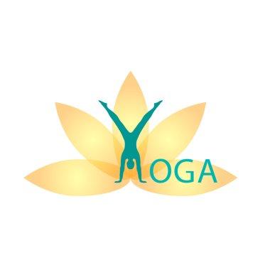 Yoga Fitness, yoga logo, fitness and sport club, lotus logo, vector logo template.