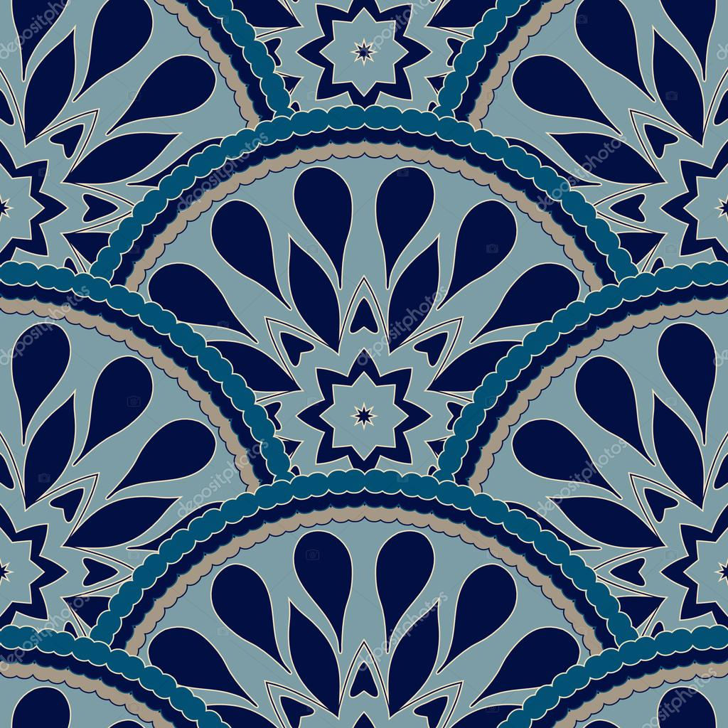 Seamless patchwork pattern frame of trendy colored floral for Carrelage 4000
