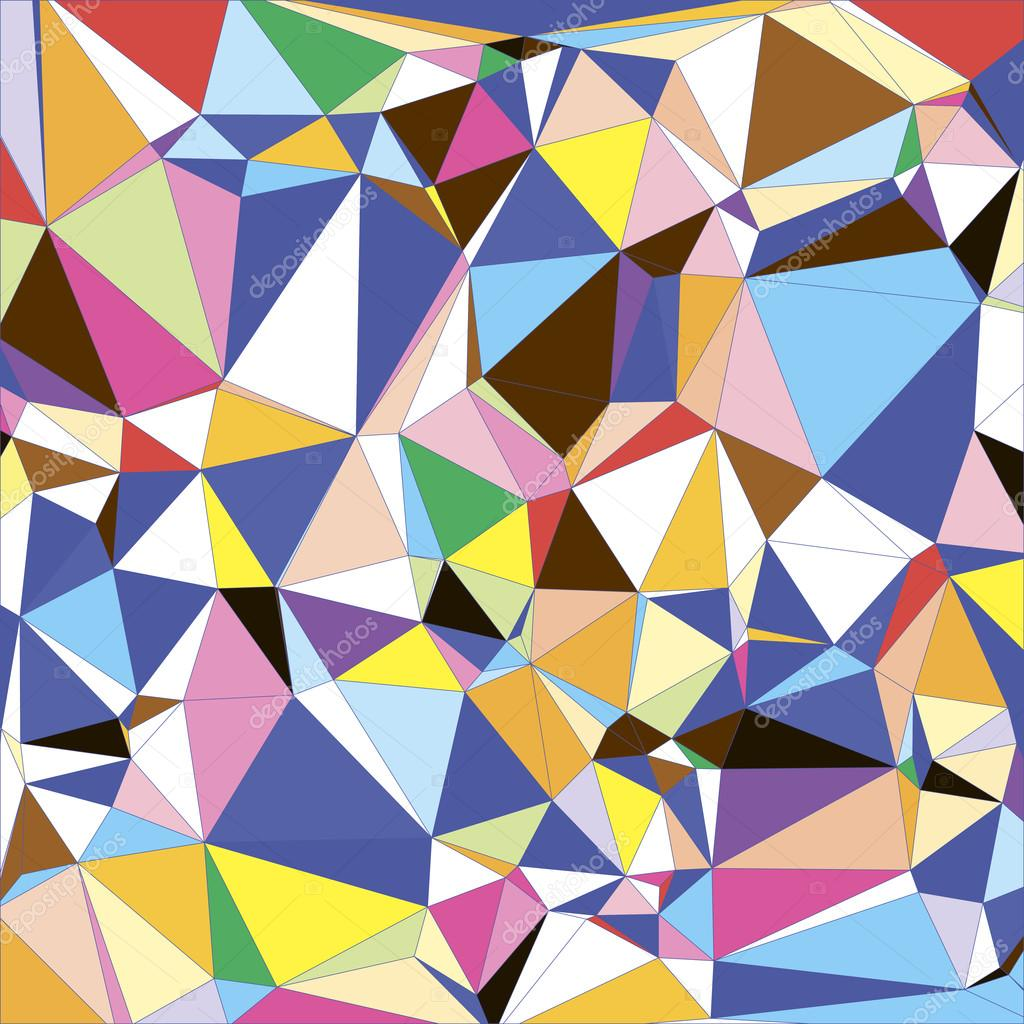 Abstract Light Colorful Triangle Polygonal Geometrical
