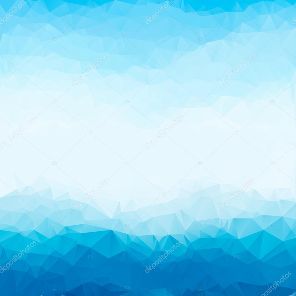 Marco de fondo polígono triángulo luminoso azul claro. Fondo ...