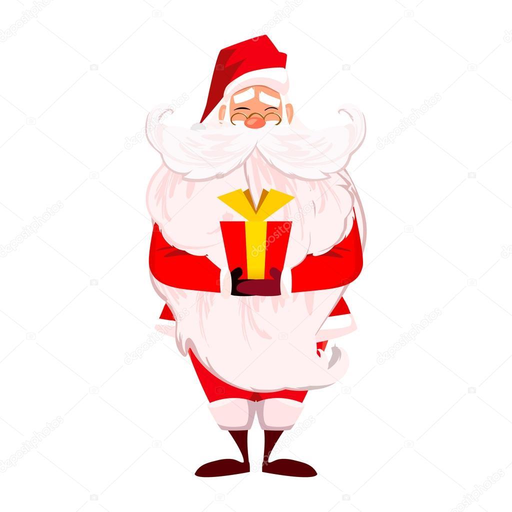Frohe Weihnachten. Frohes neues Jahr. Santa Claus mit langem Bart ...
